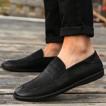 Sport 2020 buty informales mężczyzna mężczyzna para sport zapatos de oddychające sneakersy dla płaskie męskie sapatos męskie mężczyźni rozrywka hot tanie i dobre opinie Kalorzze Prawdziwej skóry RUBBER 7199 Slip-on Pasuje prawda na wymiar weź swój normalny rozmiar Oksfordzie GEOMETRIC