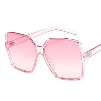 Higody Fashion Women Oversize Sunglasses Gradient Plastic Brand Designer Female Sun Glasses UV400 lentes de sol mujer 8