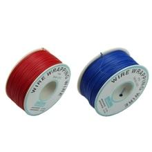 2 шт 0,25 мм провод-оберточная проволока 30Awg кабель 305 м-красный и синий