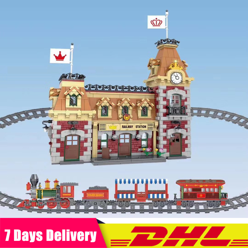 2019 DHL Train And Station Building Bricks Blocks Set Educational Toy Christmas Best Gifts Compatible Legoinglys 71044 J11001