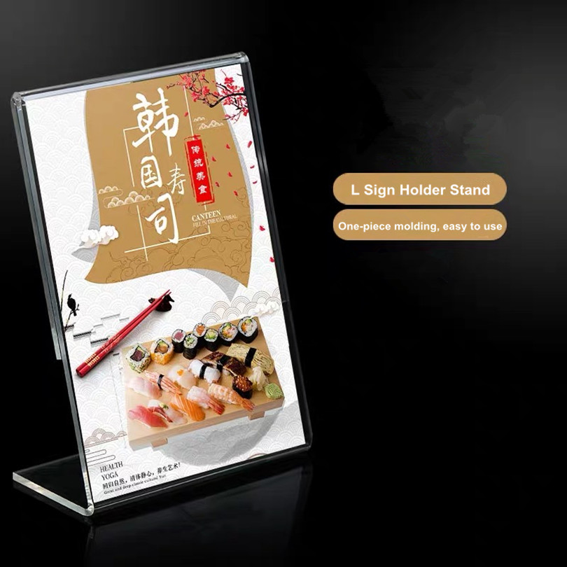 A4 Vertical And Horizontal Acrylic Menu Holders Table Sign Holder Message Holders Flexible PVC Display Holders Photo Holders