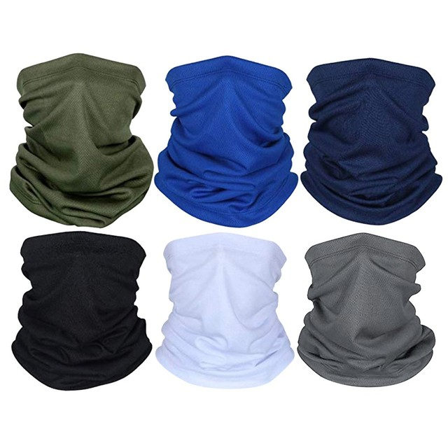 Cycling Outdoor Solid Color Scarf Men Women Sun Protection Bandana Neck Gaiters Riding Camping Scarf Activities Multi Function F 2
