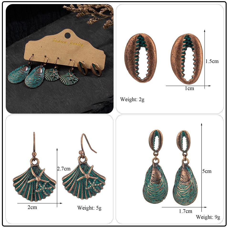 Bohemian Bronze Big Flowers Drop Earrings for Women 10 Style Vintage Leaf Metal Tassel Fringe Hanging Earring Females Jewelry (17)