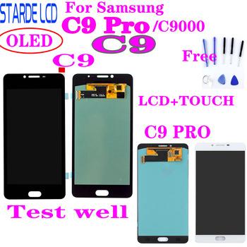 Do SAMSUNG Galaxy C9 Pro C9000 C9 wyświetlacz LCD ekran dotykowy Digitizer części zamienne do SAMSUNG C9 Pro LCD tanie i dobre opinie Pojemnościowy ekran 1280x720 3 OLED LCD i ekran dotykowy Digitizer 1280*720 Black white Test One by One Strictly 3 Months