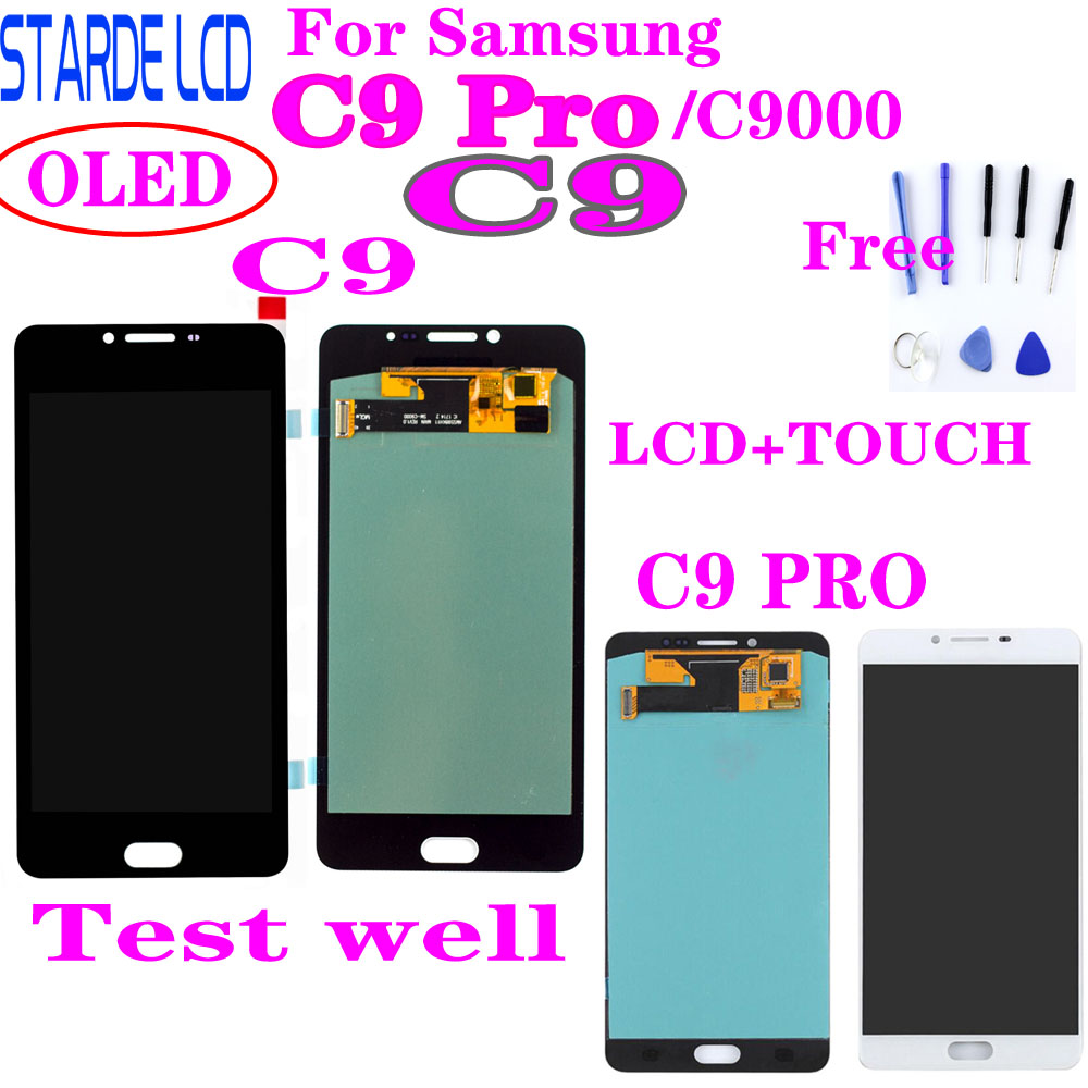For SAMSUNG Galaxy C9 Pro C9000 C9 LCD Display Touch Screen Digitizer Replacement Parts For SAMSUNG C9 Pro LCD