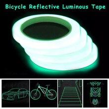 Length 1M Luminous Five Widths Home Car Reflective Adhesive Green Emergency Lines Luminous Tape Warning Tape