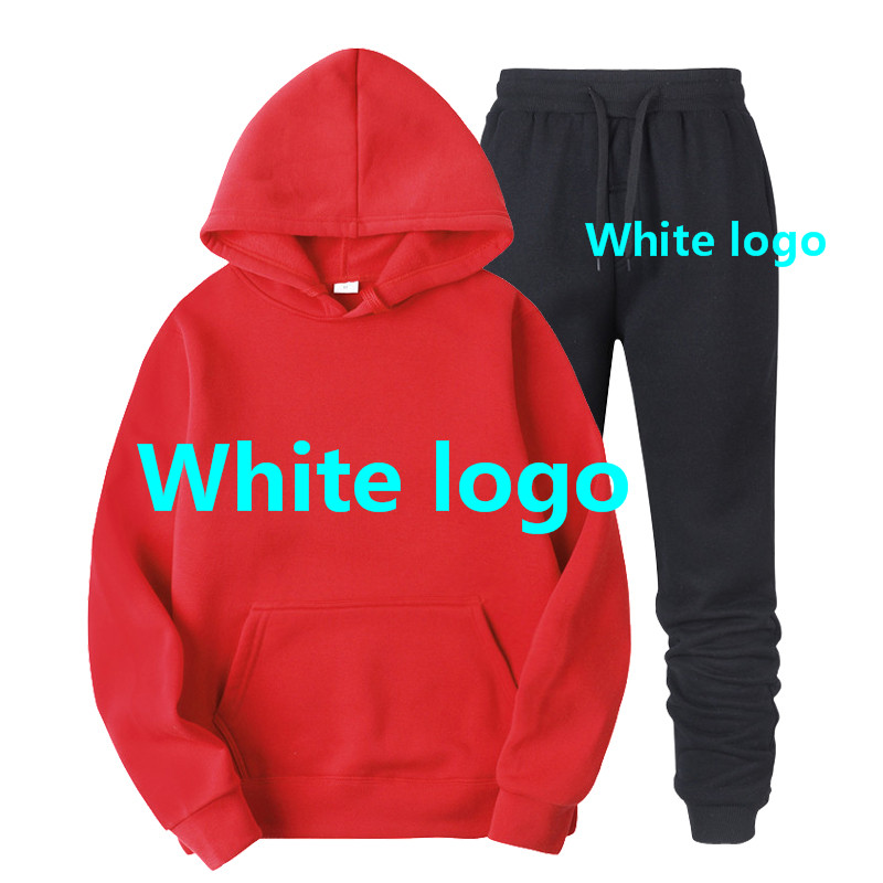 Spring Fall Men Women Unisex 2 Piece Set Hoodie Pants Print Sportswear Pullover Sweatshirt Trousers With Pockets Tracksuit Suits