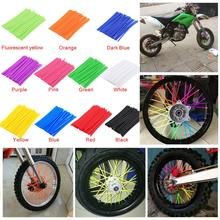 36Pcs Motorcycle Wheel Spoked Protector Wraps Rims Skin Trim Covers Pipe For Motocross Bicycle Bike Cool Accessories 11 Colors