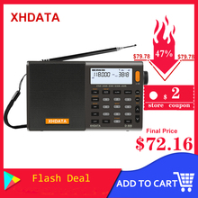 XHDATA D 808 Portable Digital Radio FM Stereo/SW/MW/LW SSB AIR RDS Multi Band Radio Speaker with LCD Display Alarm Clock  Radio