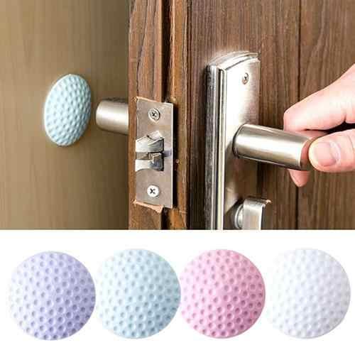 Creative כרית הלם עצמי דבק קיר חיץ תחנת דלת ידית פגוש פקק גומי להפסיק דלת מפסיק