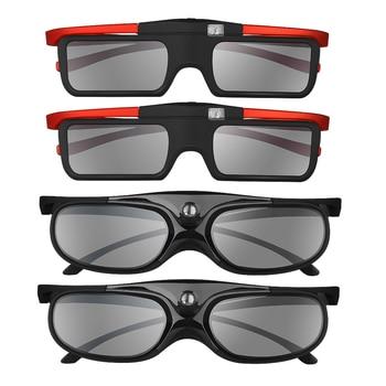 BOBLOV 4pcs/set 3D 96Hz/144Hz Shutter 3D Glasses For Projector DLP Rechargeable Home Theater Suit For BenQ Dell Acer Optama Sony