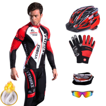 Bicycle Clothing Cycling-Jersey-Sets Sport-Wear Mountain-Bike Long-Sleeve Fleece Riding