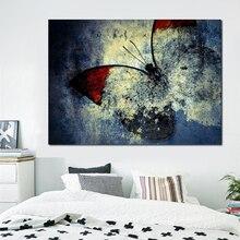 Lienzo pintura carteles de animales e impresiones mariposa abstracta Vintage arte al óleo Cuadros para la decoración del hogar de la sala de estar Cuadros