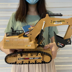 1:18 RC Truck RC Excavator Caterpillar Tractor Model Engineering Car 2.4G Radio 680 Rotation Digging Soil Sound Effects Kids Toy