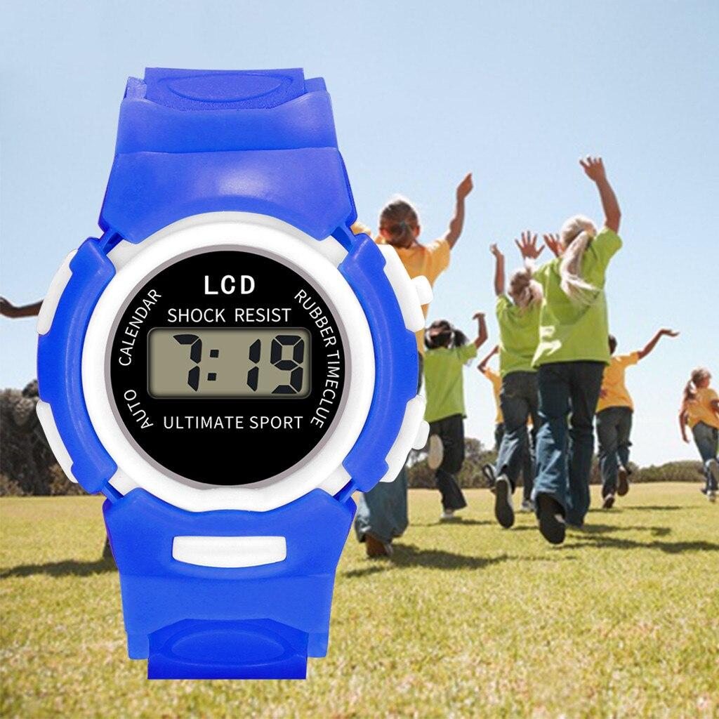 Children Girls Analog Digital Sport LED Electronic Waterproof Wrist Watch Watch Gift Reloj Kids Arrival Freeshipping Hot Sale9.3
