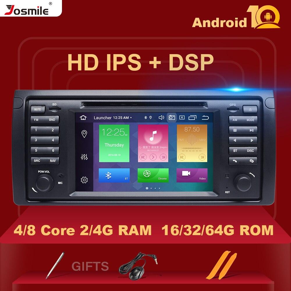 IPS DSP 4GB 10 2 Din Android Car DVD Rádio Estéreo Multimídia Para BMW BMW E39 X5 E53 5 série De Áudio De Vídeo de Navegação GPS Carplay