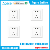 Aqara Smart wall Socket Zigbee wifi Remotel Control Wireless Switch Work For Smart home kits APP For Xiaomi Smart home kits APP
