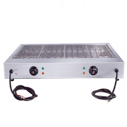 Commercial Electric BBQ 220V Smokeless Barbecue Stainless Steel Picnic Grill Camping Barbecue Tool EB-800