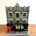 Создатель эксперт в виде улиц Лев паб клуб бар 5910 шт. угол кафе модульный кубики MOC модель строительные блоки игрушка Grand торговый центр