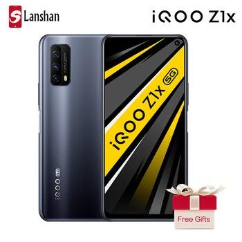 Перейти на Алиэкспресс и купить В наличии IQOO Z1x 5G 5000 мАч большая батарея 33 Вт Dash Charge 8 Гб 128 ГБ Celular Face and Fingerprint ID 6,57 ''полный экран мобильного телефона