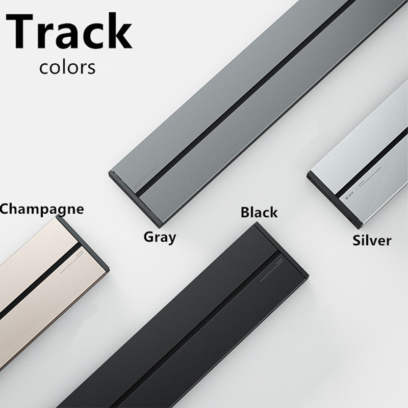 Custom Electrical Orbital Wireless Power Track  0.5m Black Gray Silver Champagne