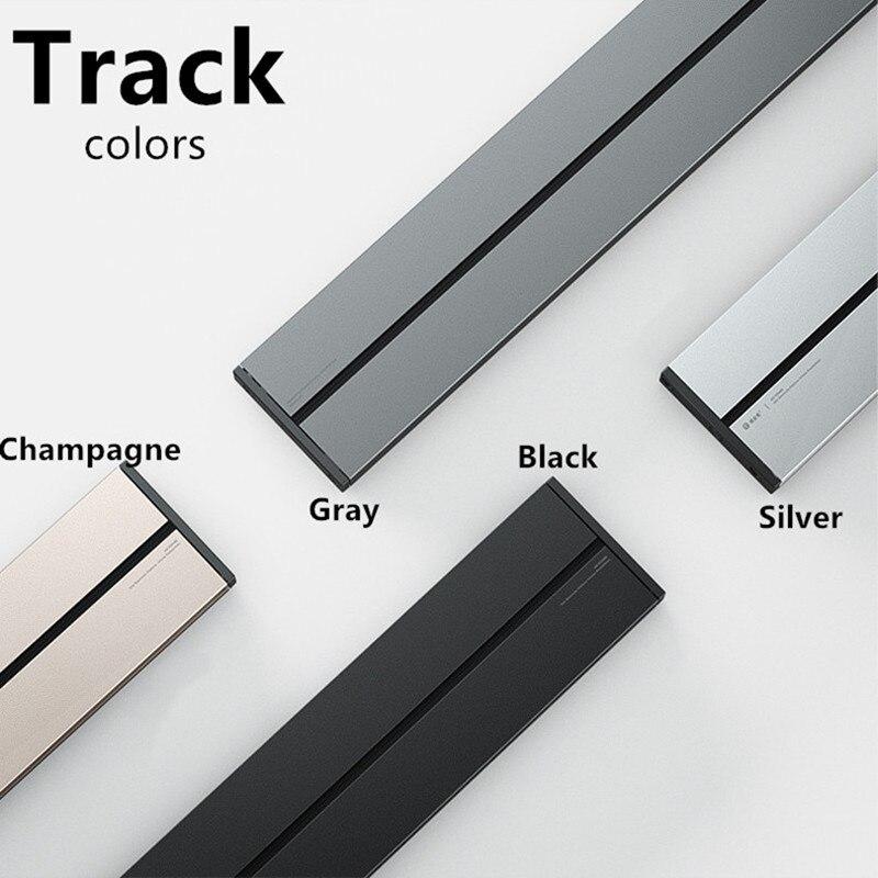 Custom Electrical Orbital Wireless Power Track  0.5m Black Gray Silver Champagne
