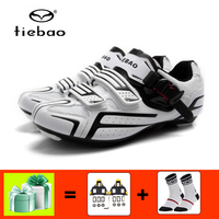 TIEBAO Cycling shoes road sapatilha ciclismo bicycle Athletic sneakers outdoor self locking breathable speed road bike shoes