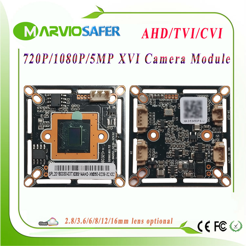 720P 1080P 5MP AHD TVI CVI CCTV Camera Module 2MP XVI Camera Board CVBS HD Analog Security CCTV Camera Alarm