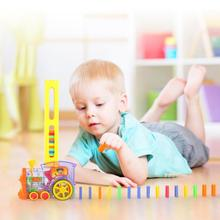 Creative Domino Set Toy Train Blocks with Automatic Laying Function Kids Gift