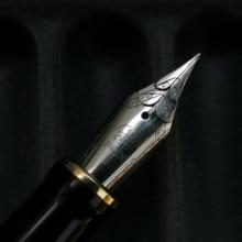 Özel reçine dolma kalem mor mürekkep kalem #6 ile üç katmanlı el yapımı kral kartal uç kırtasiye ofis okul malzemeleri yazma