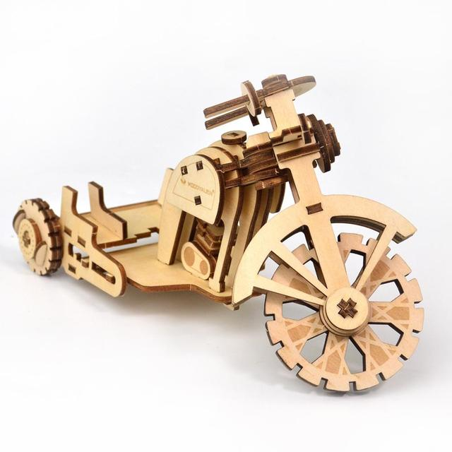 Diy Kids Wooden Puzzle Miniature Airplane Car Model kits To Assemble For Adults Creative Motorcycle Wooden Decoration Kids
