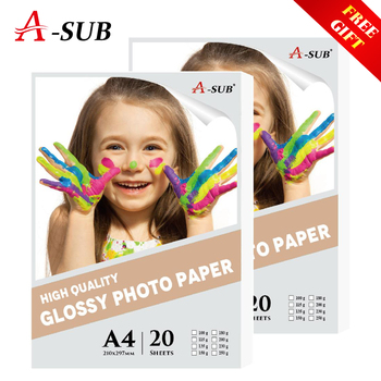 цена на 20 sheets A4 Photo-Paper Glossy Inkjet Printing For Inkjet Printer Photographer imaging printing paper