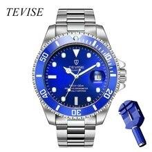 TEVISE Gold Watch Men Calendar Luxury Wa