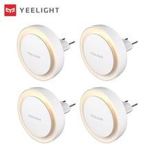 Yeelight LED Night Light Plug in Light Sensor Nightlight for Hallway Baby Bedroom Bathroom Warm Light 2500K Color Temperature