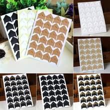 120 pçs retro multicolorido canto adesivo auto-adesivo moldura de foto canto adesivo artesanato scrapbook álbum decoração diy acessórios