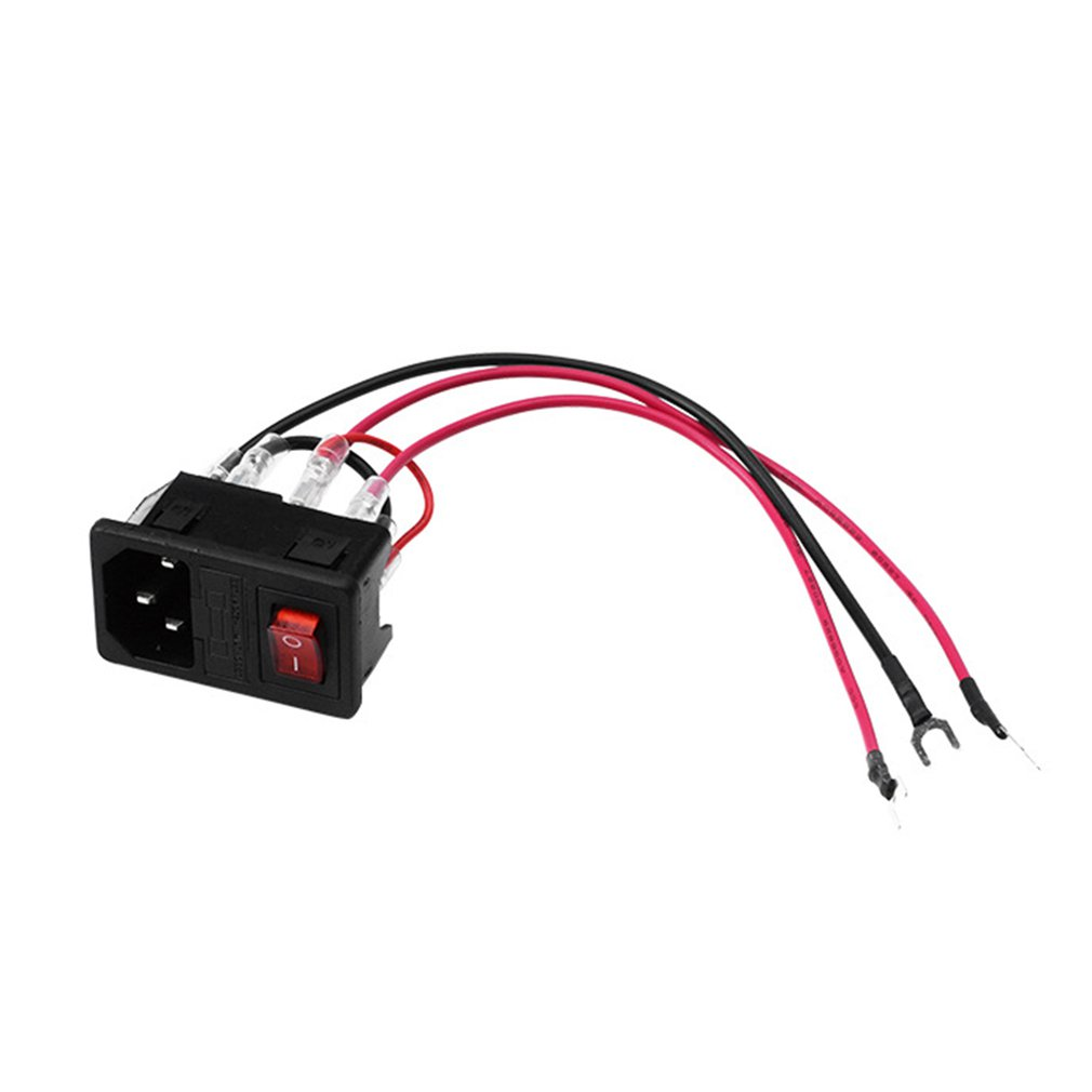 3DSWAY 3D Printer Accessories Power Switch Socket Module <font><b>220V</b></font>/110V <font><b>10A</b></font> with <font><b>Fuse</b></font> High Quality image