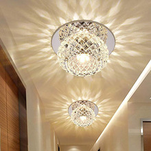 3PCS LED Modern Flush Mount Lighting Ceiling and Wall Light Spots Crystal Round Ceiling Lamp for Vestibule, Hallway, Entrance free shipping star shaped modern ledceiling lamp flush mount crystal ceiling lights 90 265v 9w hallway bed room foyer light