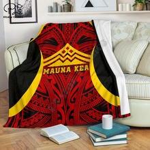 Гавайская одеяло защита mauna kea 3d печать шерпа на кровать