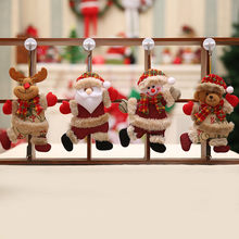 Christmas Hang Decoration Christmas Snowman Tree Hanging Ornaments Gift Santa Claus Elk Reindeer Toy Doll Hang Decorations(China)