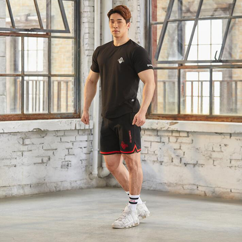 2020 Gyms Fitness Bodybuilding Shorts Men's Summer Olympia Breathable Polyester Quick-Drying Jogging Training Fitness Shorts