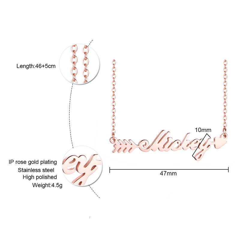 Vnox ロマンチックなキューピッドの矢のためのネームネックレス女性 585 ローズゴールドステンレス鋼チョーカーカスタマイズ恋人のギフト