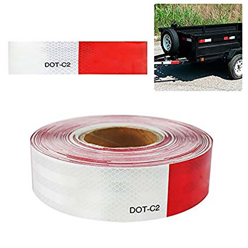 5CMx6M Auto Car Reflective Adhesive Tape Safety Caution Warning Sticker For Cars Trucks Trailers Campers Boats