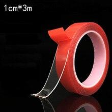 Красный прозрачный силиконовый двухсторонний скотч стикер для автомобиля стикер s высокая прочность без следов клейкая наклейка авто товары для жизни