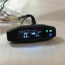 Nova motocicleta lcd velocímetro digital odemeter injeção elétrica e carburador medidor