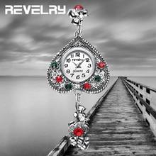 Women Watch Fashion Heart Dial Antique Silver Bracelet Jewelry