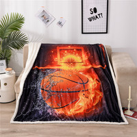 Thicking 3D Firing Ball Cartoon Sherpa Blanket for Adults Child Couch Soft Plush Comforters Quilt Drop Ship