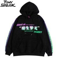 Men Hip Hop Hoodie Sweatshirt Drunk Illusion Chinese Character Hoodie Streetwear Casual Black Hooded Pullover Cotton Autumn 2019