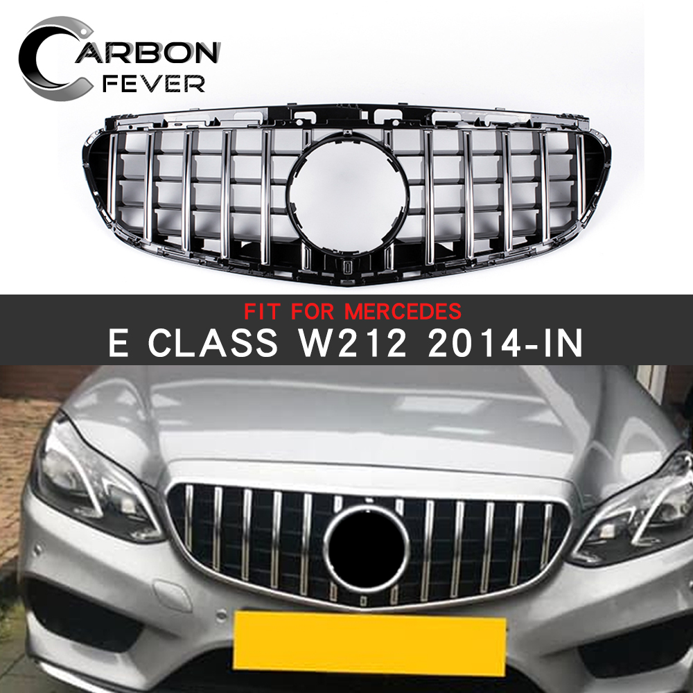 Front Grille Facelift For <font><b>Mercedes</b></font> E class <font><b>W212</b></font> Sedan Front Racing <font><b>Grill</b></font> Sport E320 E350 E400 C207 2014-2016 image