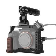 Selens a7iii a7r3 a7m3カメラケージ用A7III A7R3 A7M3コールドシューマウントアルミトップハンドルグリップナシハンドル