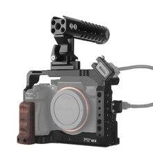 Selens a7iii a7r3 a7m3 Kamera Käfig Rig Für A7III A7R3 A7M3 Kalten Schuh Montieren mit Aluminium Top Griff Grip Pearwood griff